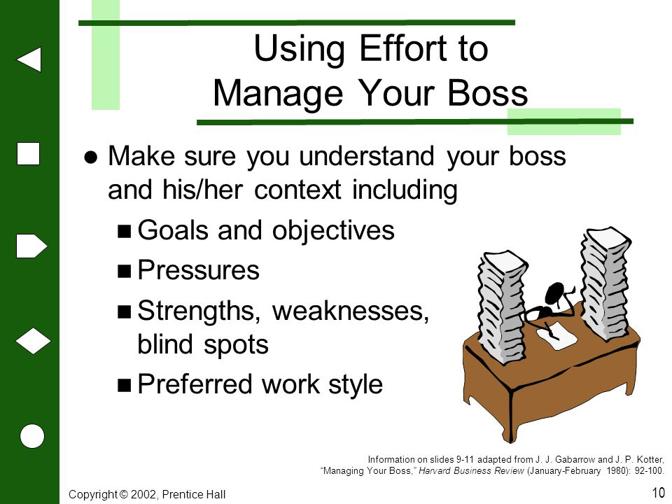 Using Effort to Manage Your Boss