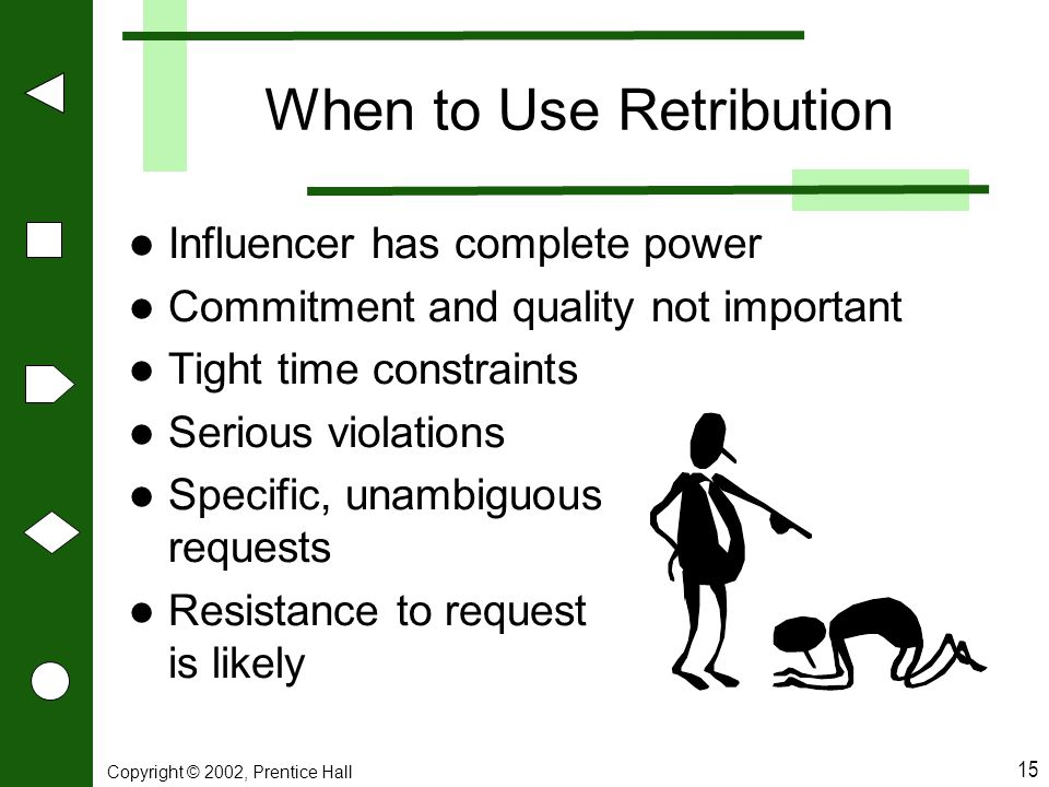 When to Use Retribution