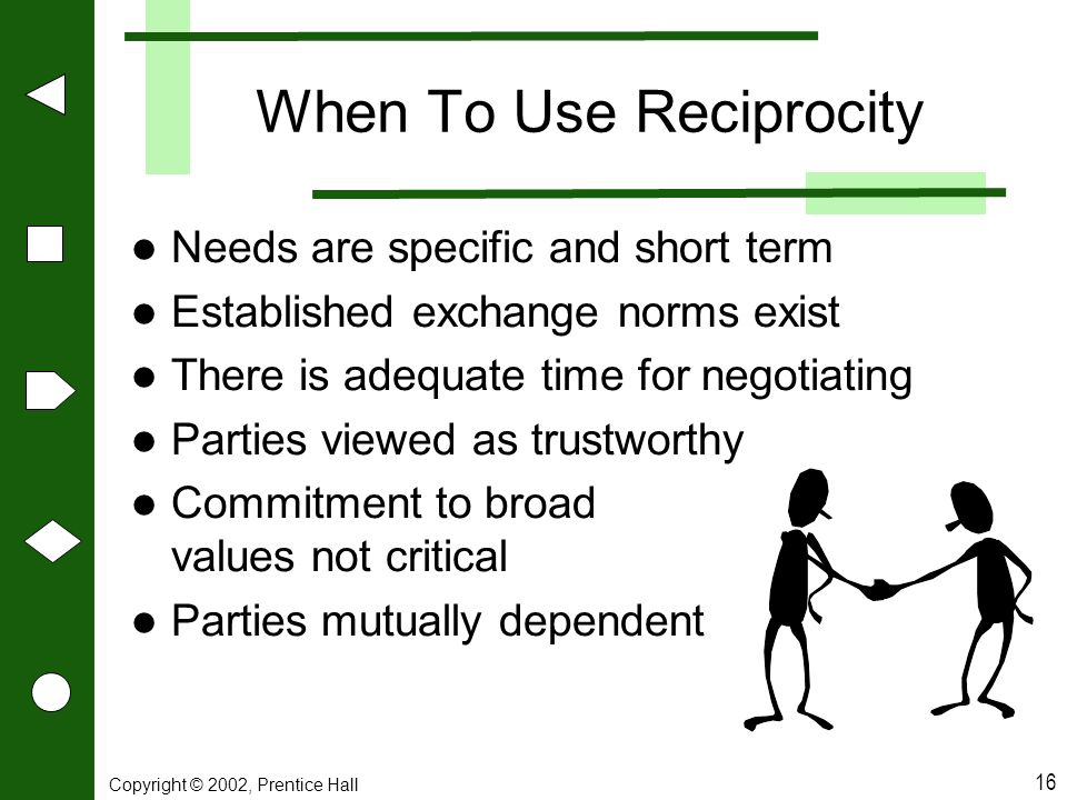 When To Use Reciprocity