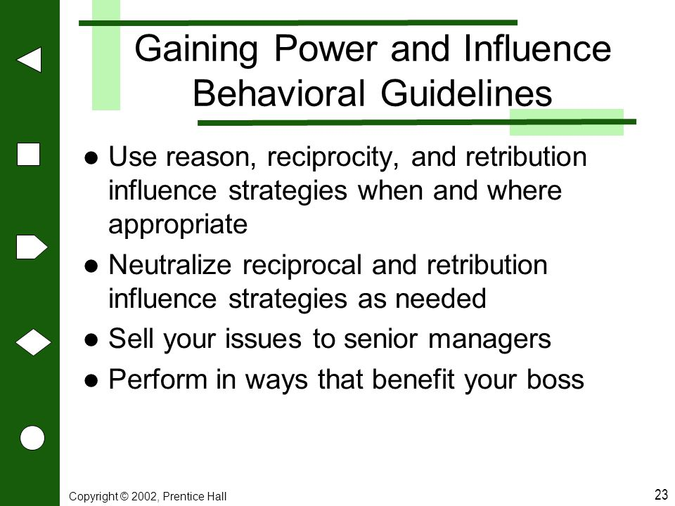 Gaining Power and Influence Behavioral Guidelines