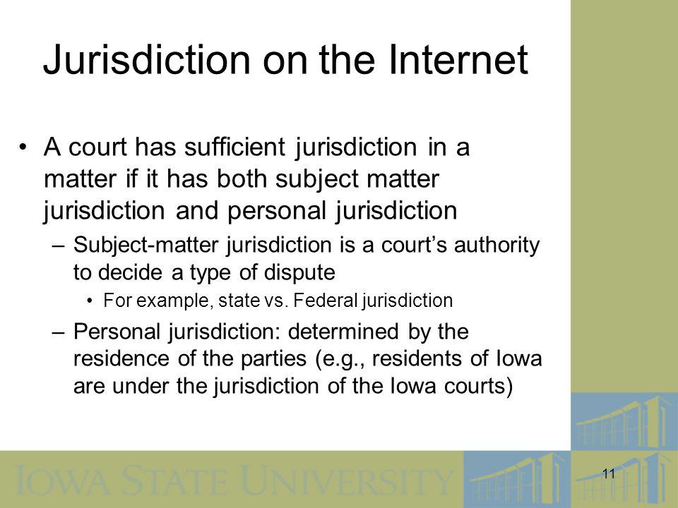 Jurisdiction on the Internet