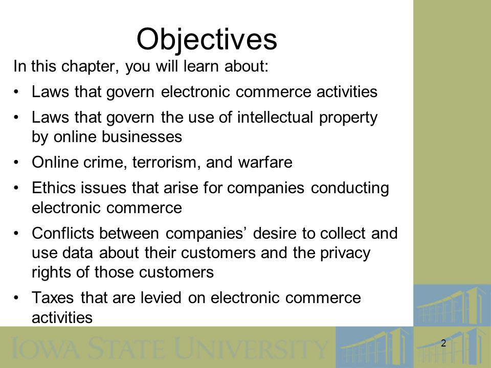 Objectives In this chapter, you will learn about:
