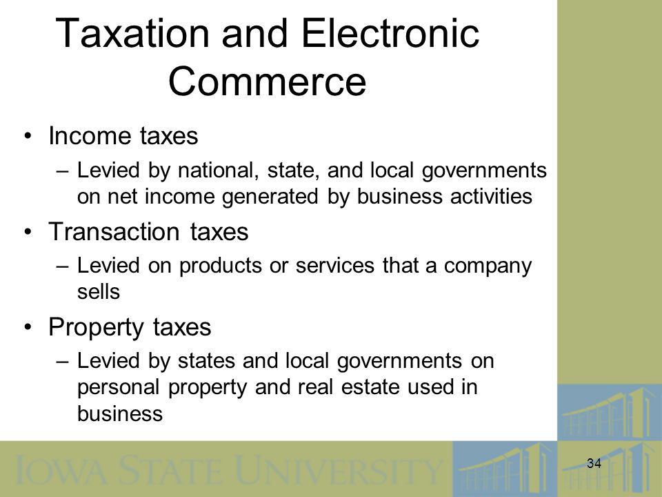 Taxation and Electronic Commerce