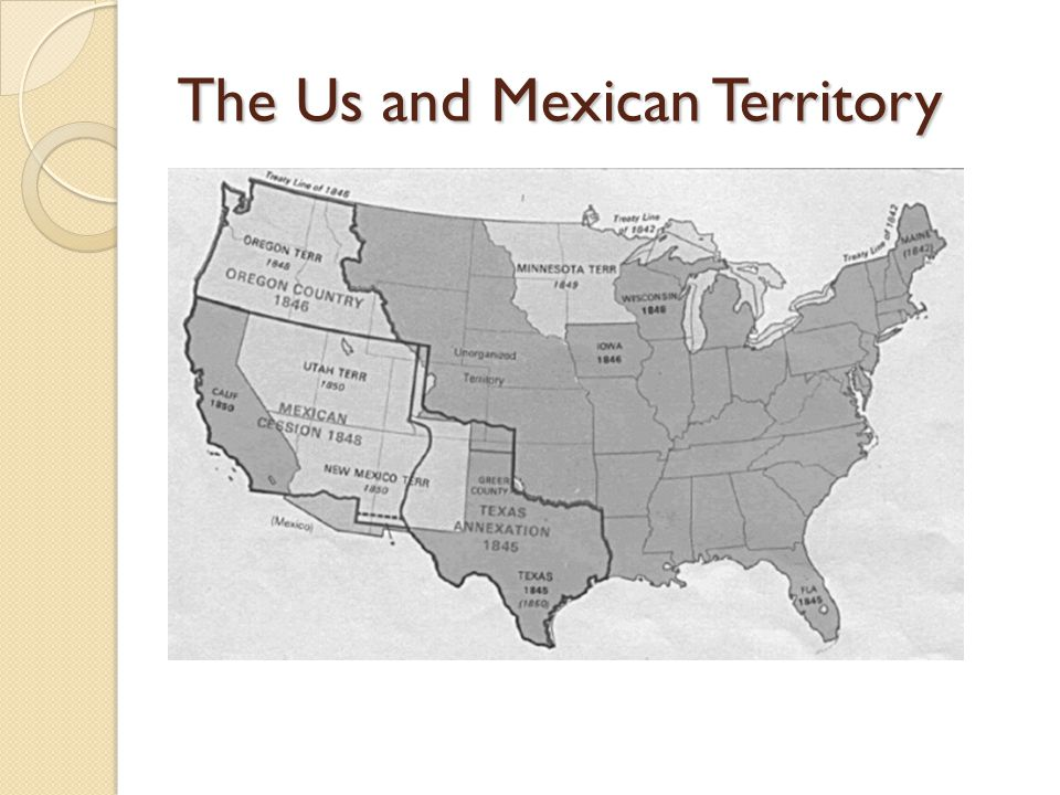 The Us and Mexican Territory