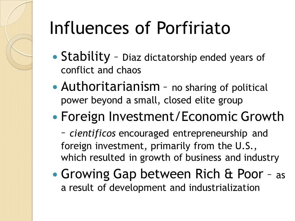 Influences of Porfiriato