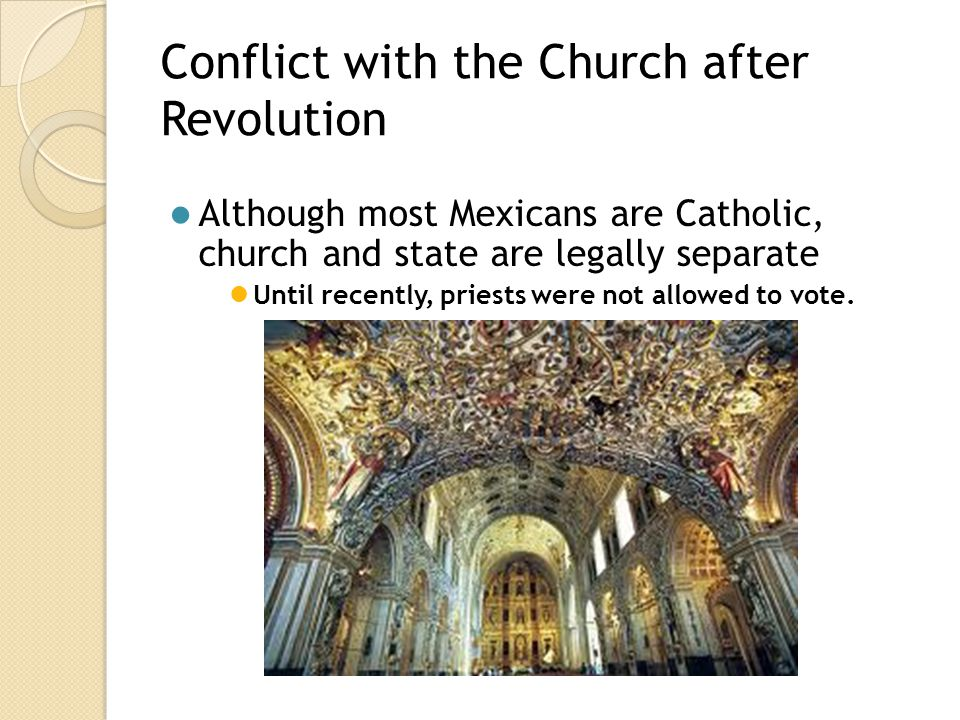 Conflict with the Church after Revolution