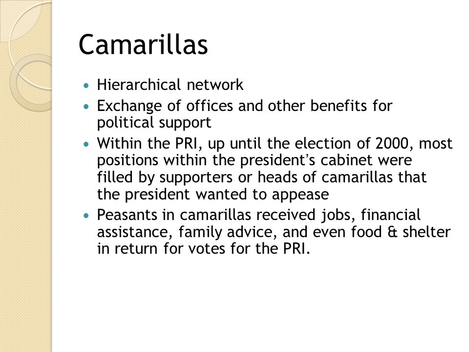 Camarillas Hierarchical network