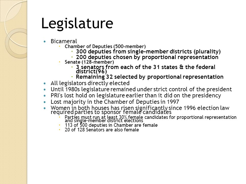 Legislature Bicameral