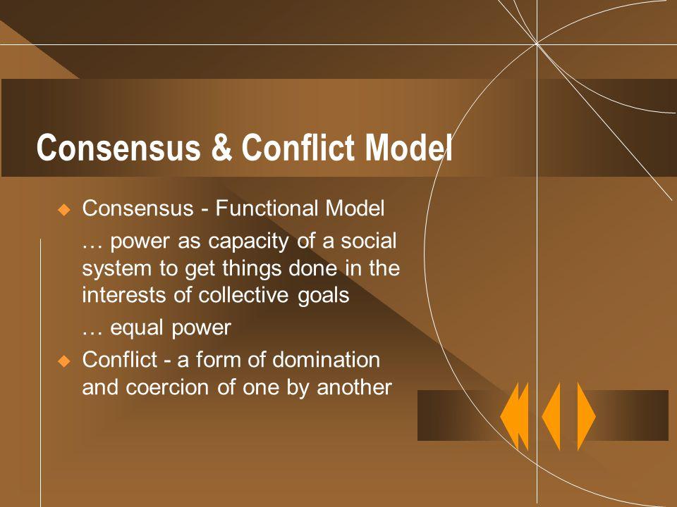 Consensus & Conflict Model