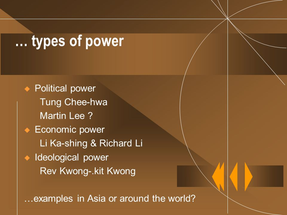 … types of power Political power Tung Chee-hwa Martin Lee