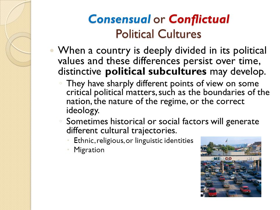 Consensual or Conflictual Political Cultures