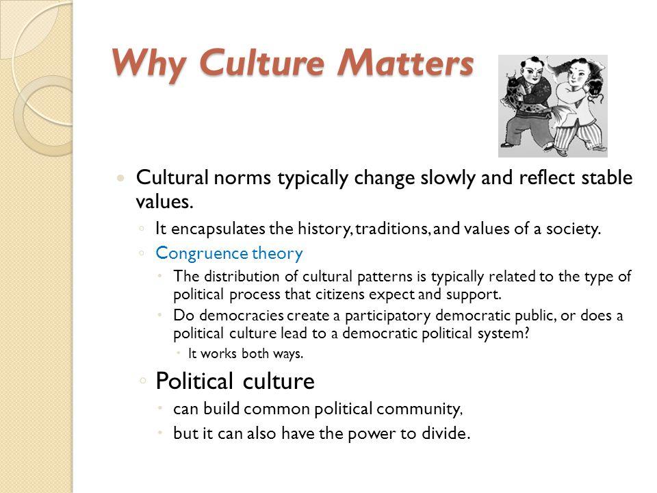Why Culture Matters Political culture