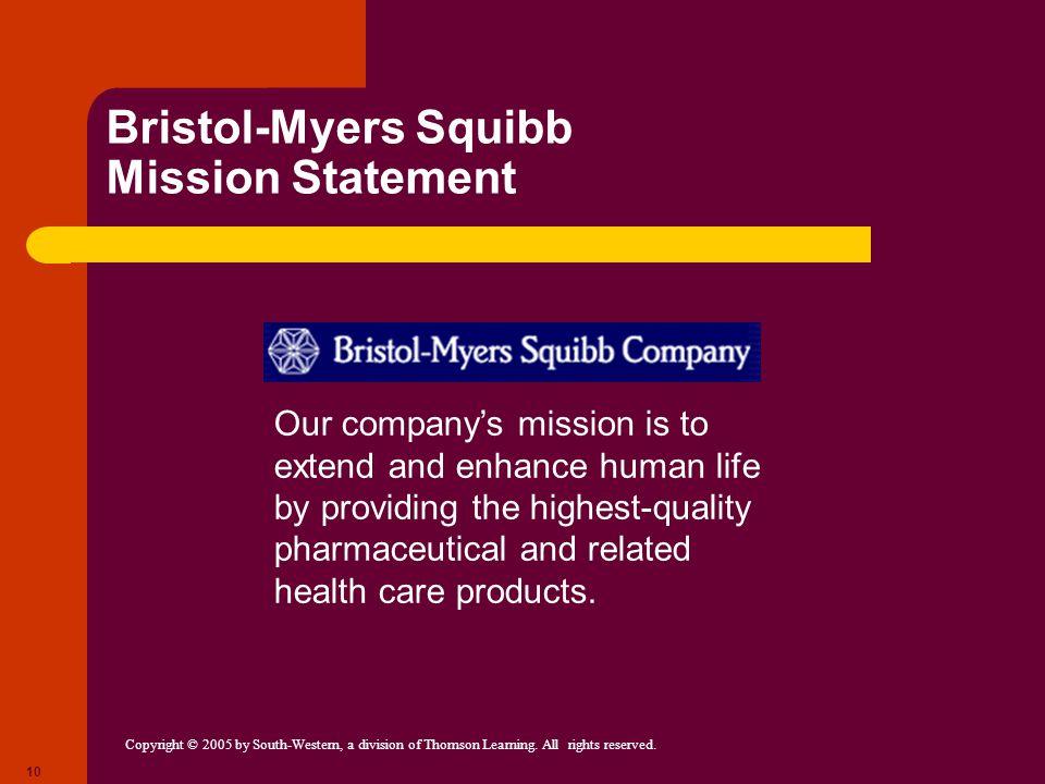 Bristol-Myers Squibb Mission Statement