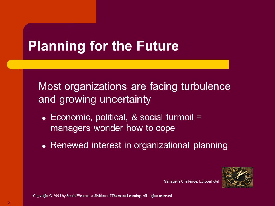 Planning for the Future