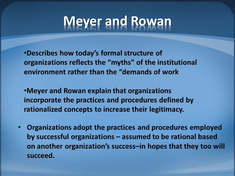 Meyer and Rowan