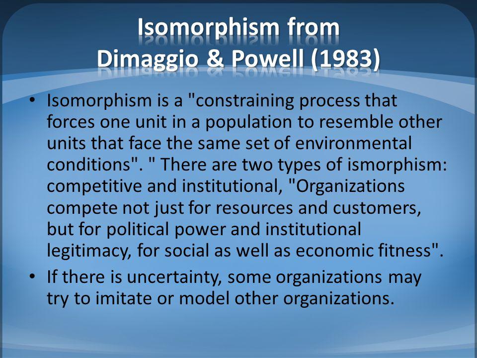Isomorphism from Dimaggio & Powell (1983)