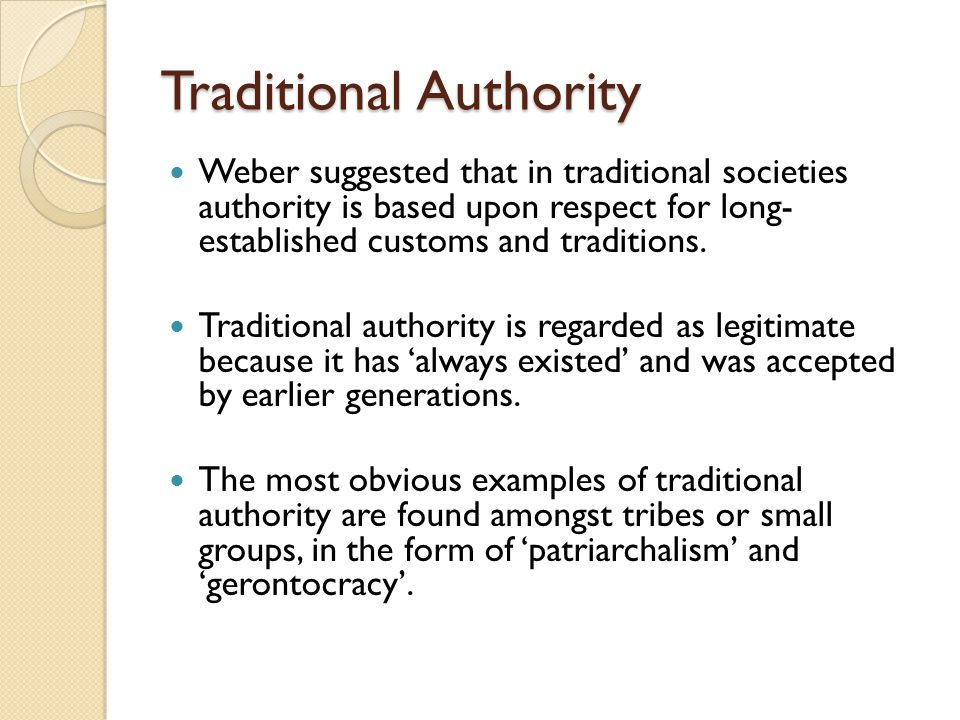 Traditional Authority