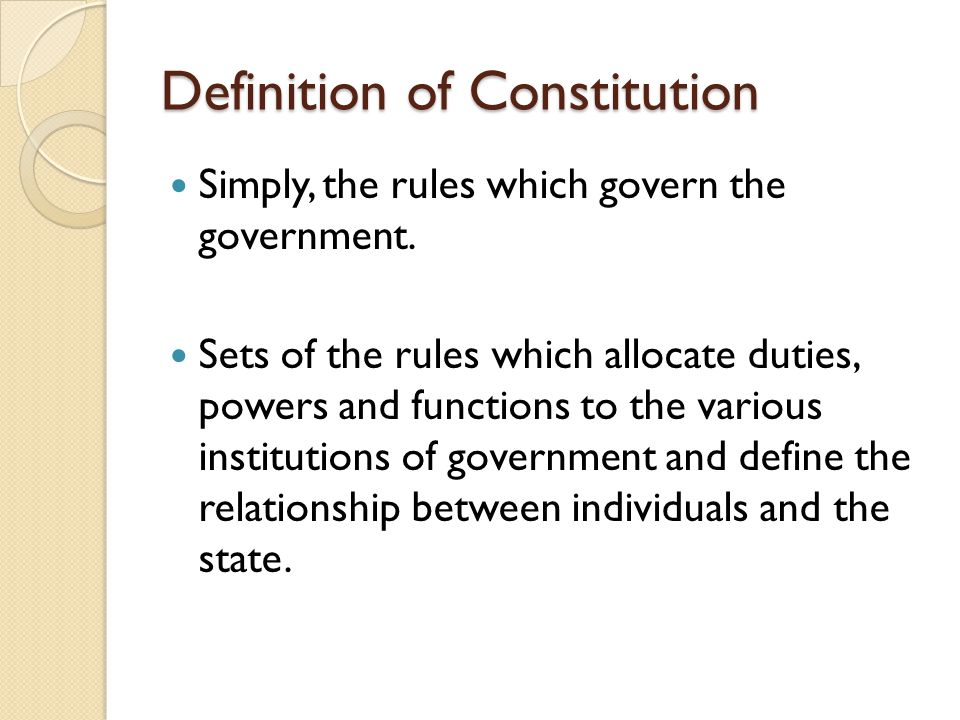 Definition of Constitution
