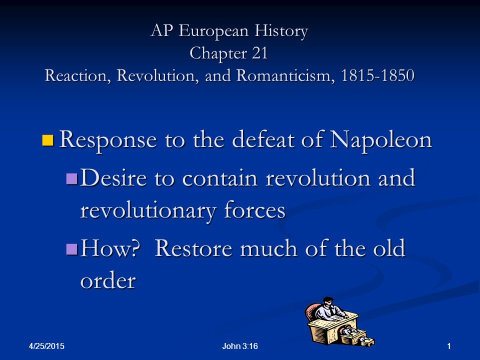 Response to the defeat of Napoleon