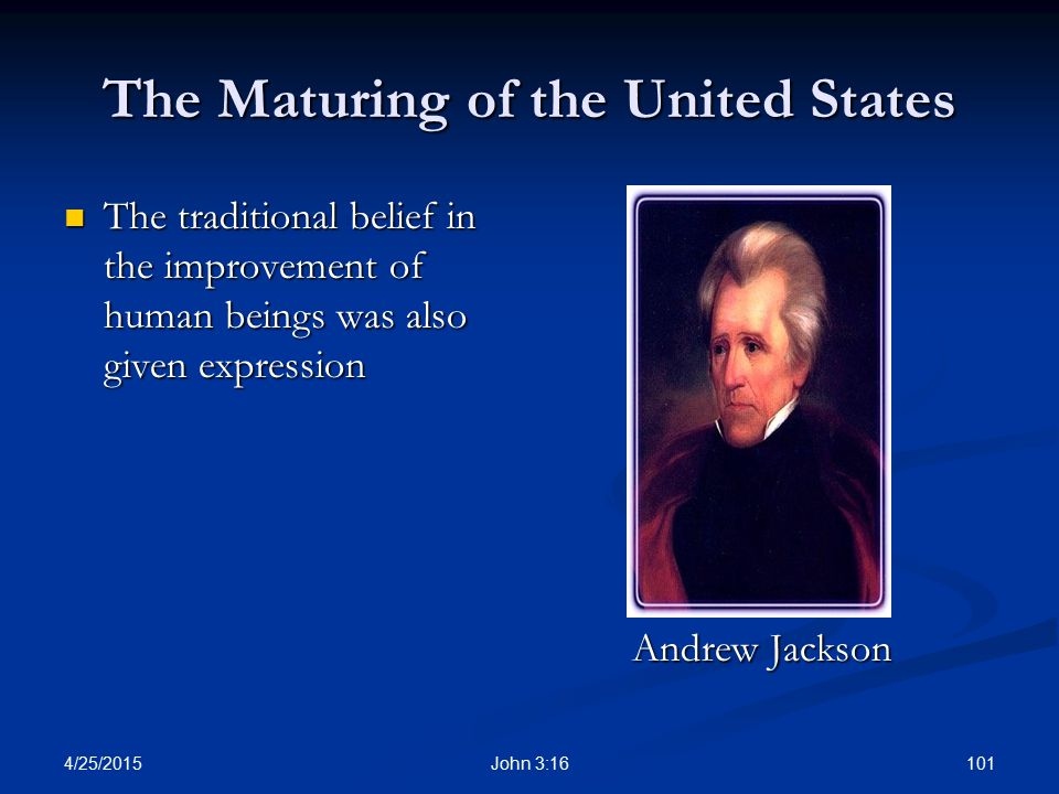 The Maturing of the United States