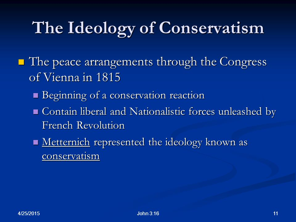 The Ideology of Conservatism
