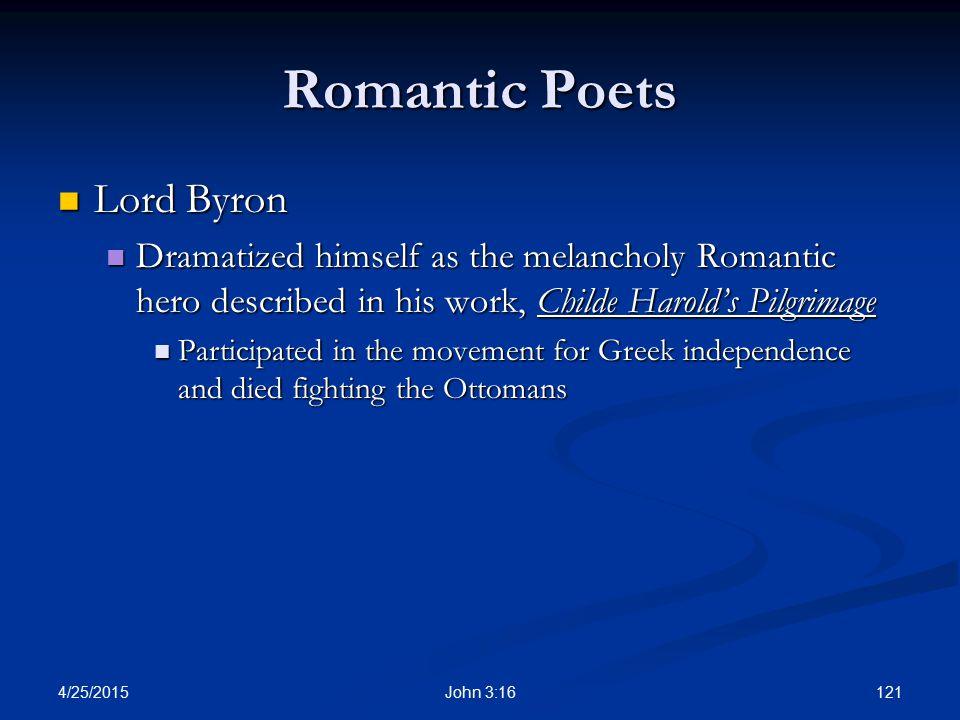 Romantic Poets Lord Byron
