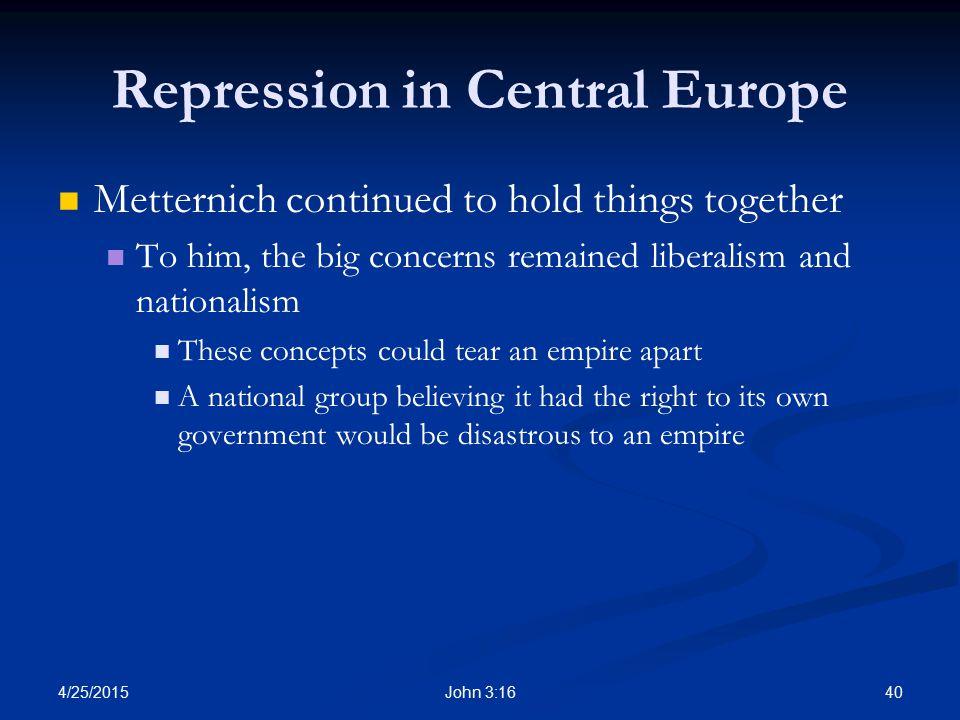 Repression in Central Europe