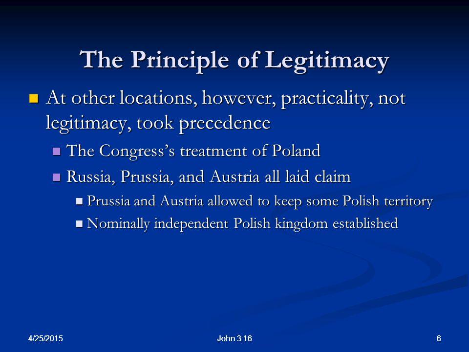 The Principle of Legitimacy