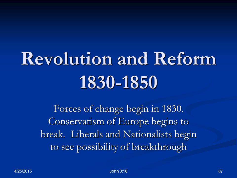 Revolution and Reform 1830-1850
