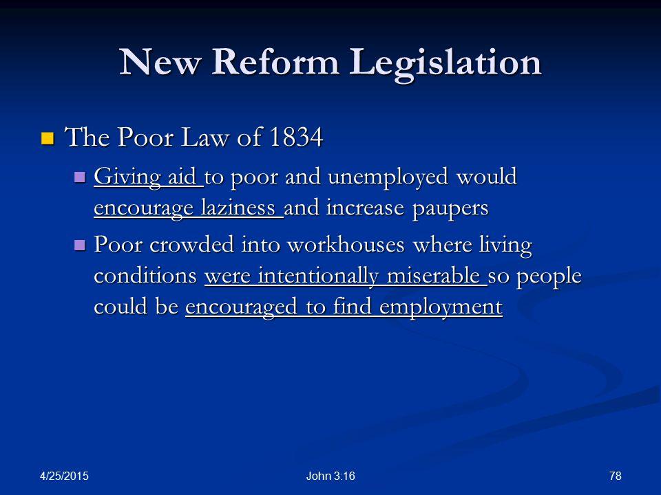 New Reform Legislation