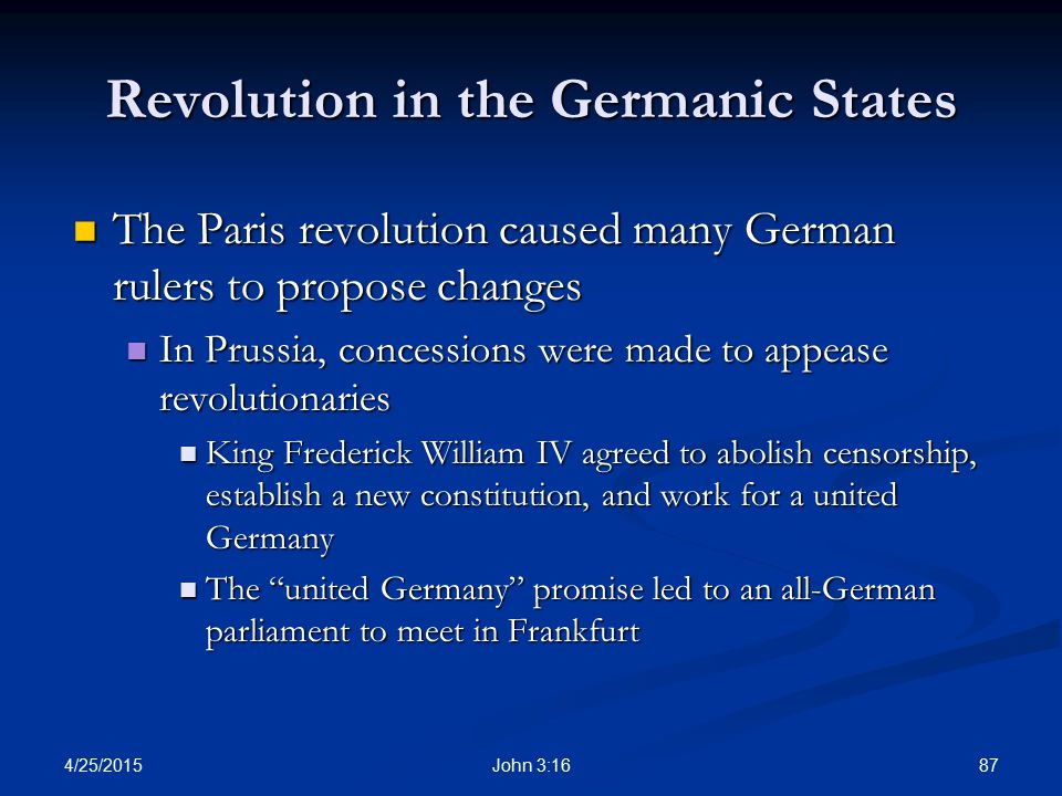 Revolution in the Germanic States
