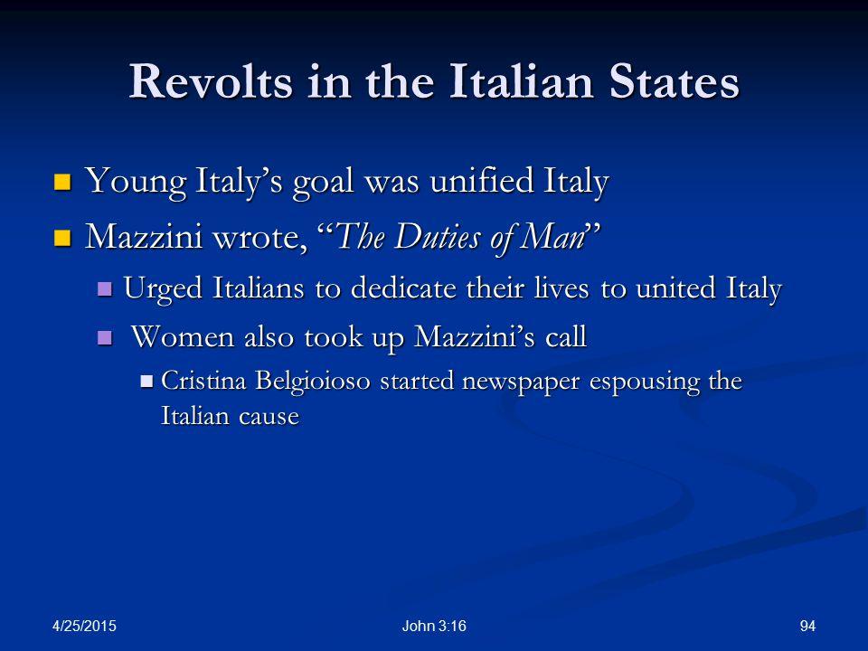 Revolts in the Italian States