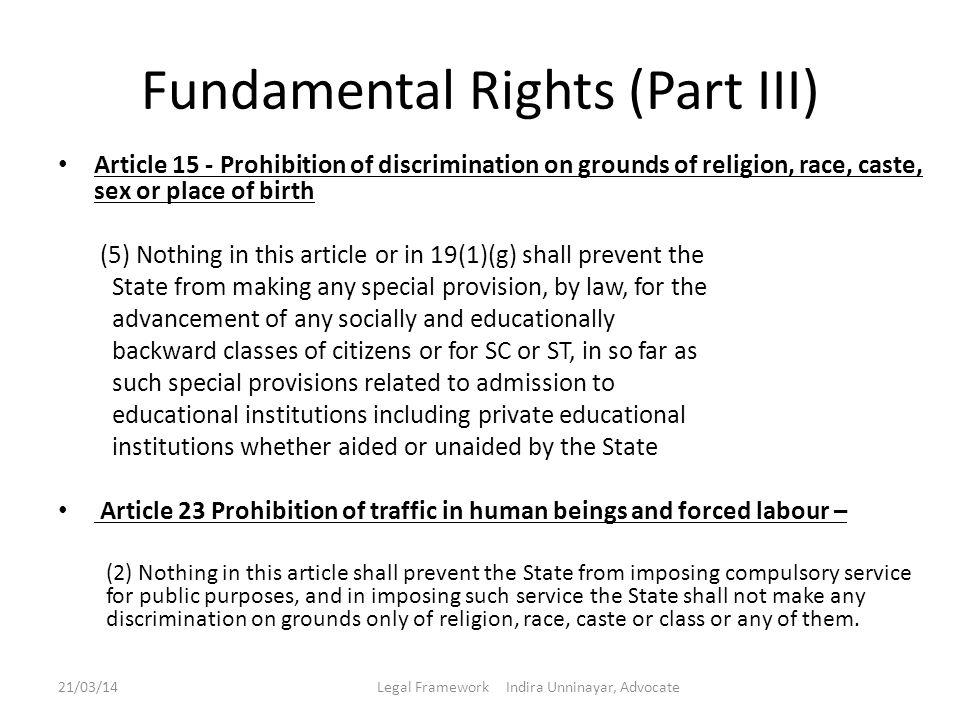 Fundamental Rights (Part III)