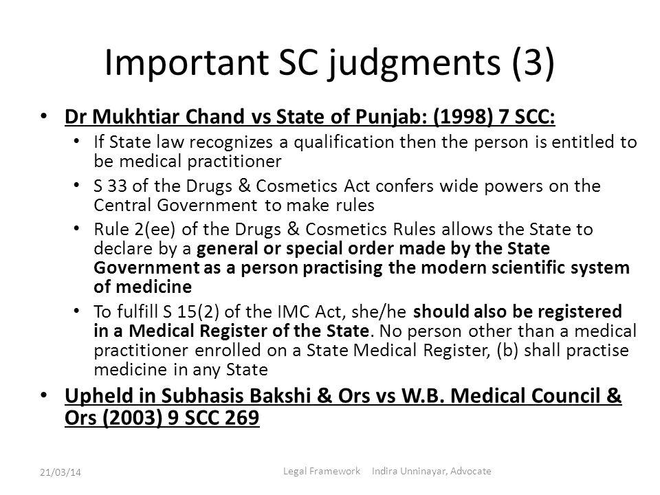 Important SC judgments (3)