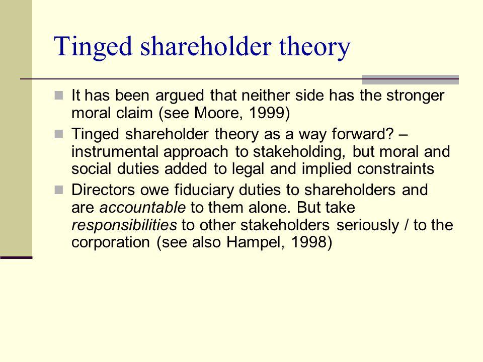 Tinged shareholder theory