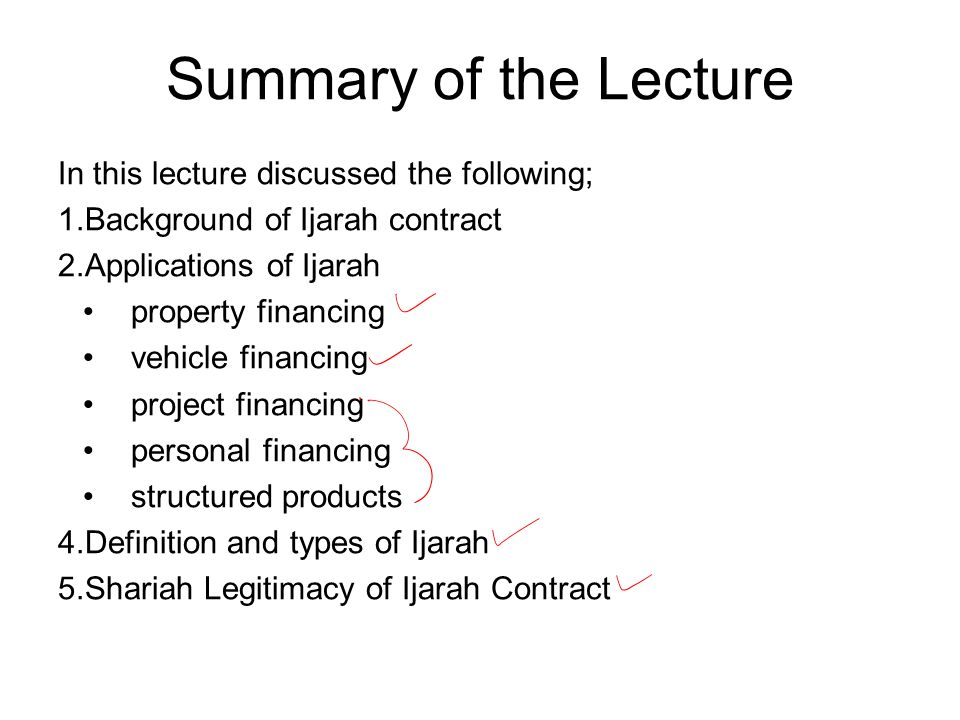 Summary of the Lecture In this lecture discussed the following;