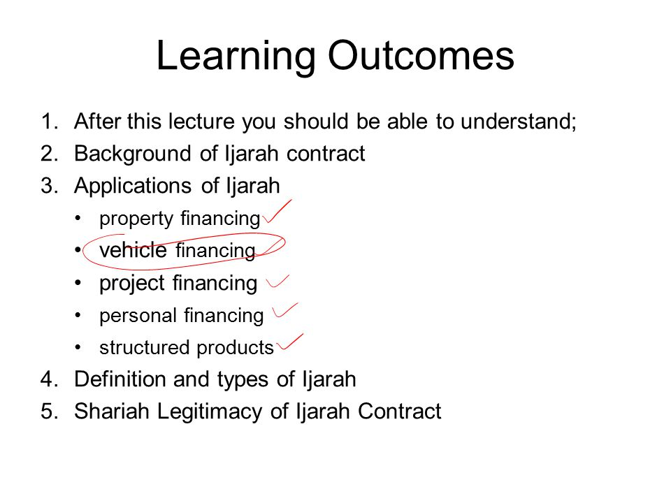Learning Outcomes After this lecture you should be able to understand;