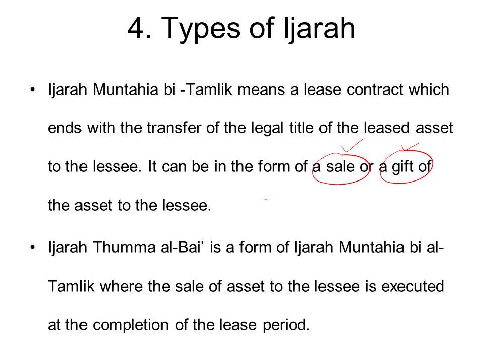 4. Types of Ijarah
