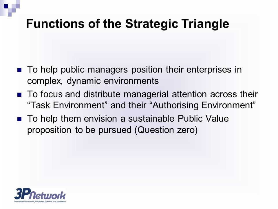 Functions of the Strategic Triangle