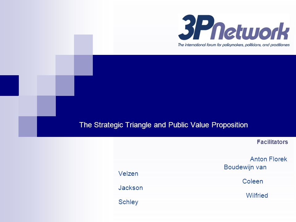 The Strategic Triangle and Public Value Proposition