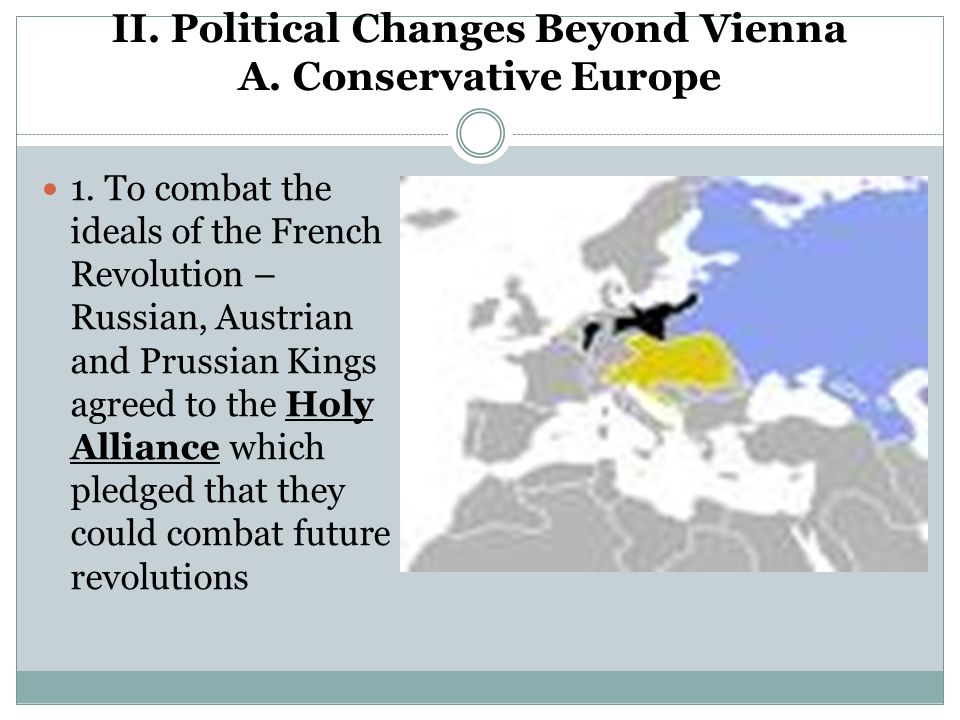 II. Political Changes Beyond Vienna A. Conservative Europe