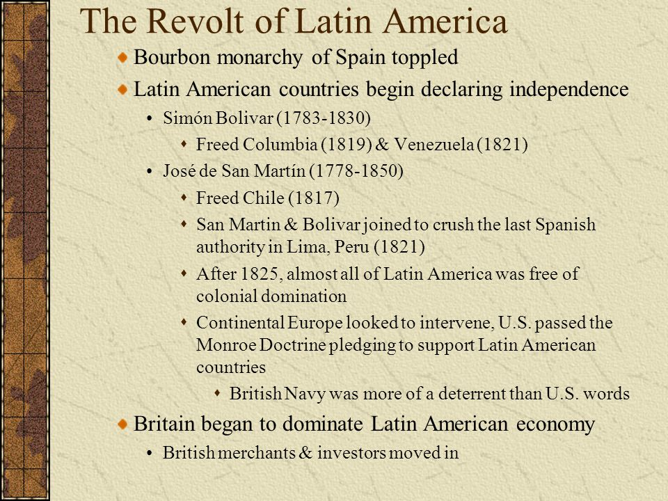 The Revolt of Latin America