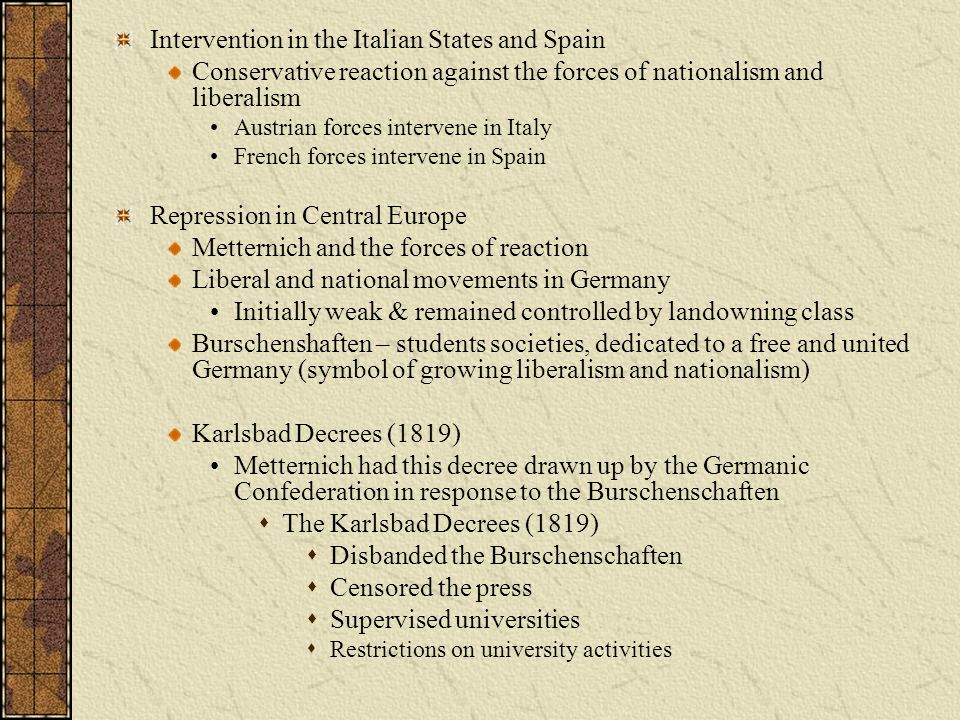 Intervention in the Italian States and Spain