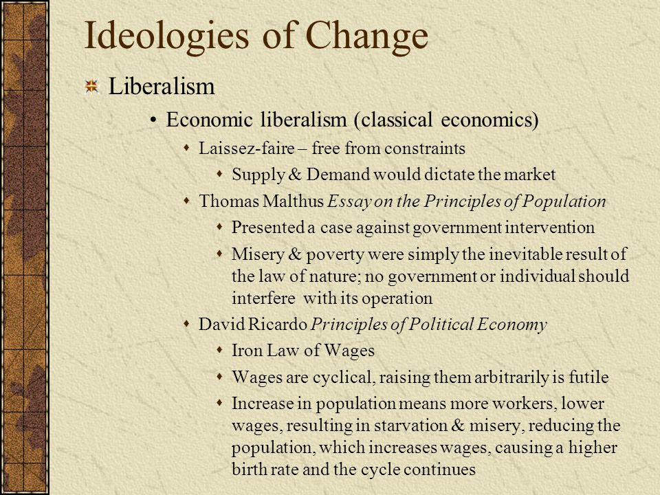 Ideologies of Change Liberalism