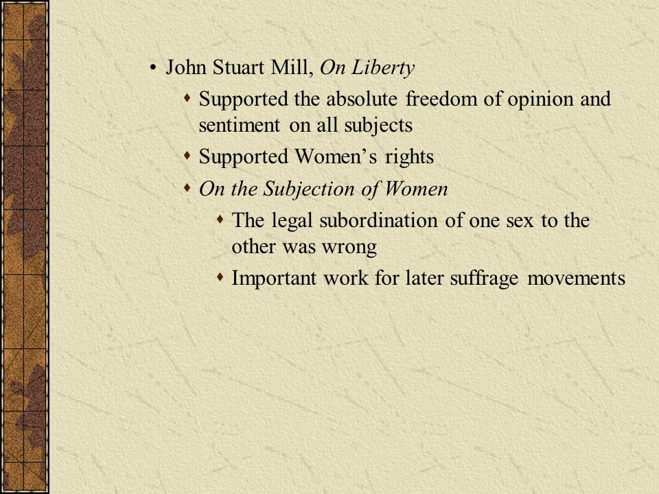 John Stuart Mill, On Liberty