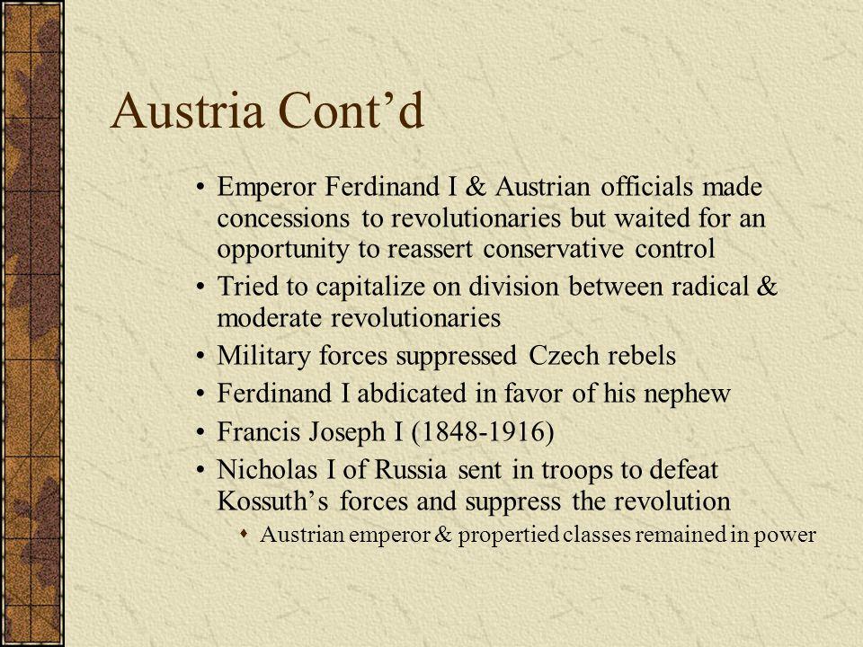 Austria Cont'd