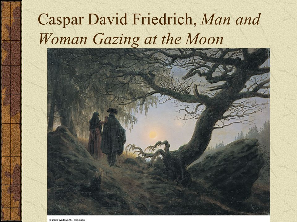 Caspar David Friedrich, Man and Woman Gazing at the Moon