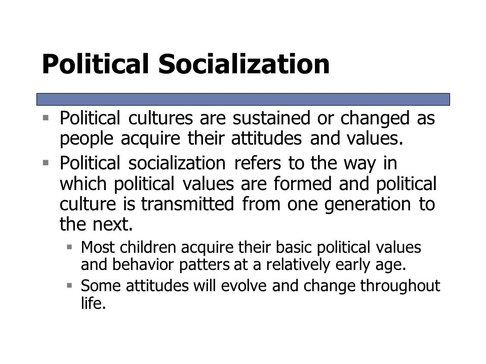 on culture and socialization We turn now to one of the major arenas of social systems: culture we'll explore briefly what culture is, how we are socialized into it, and set the stage fo.