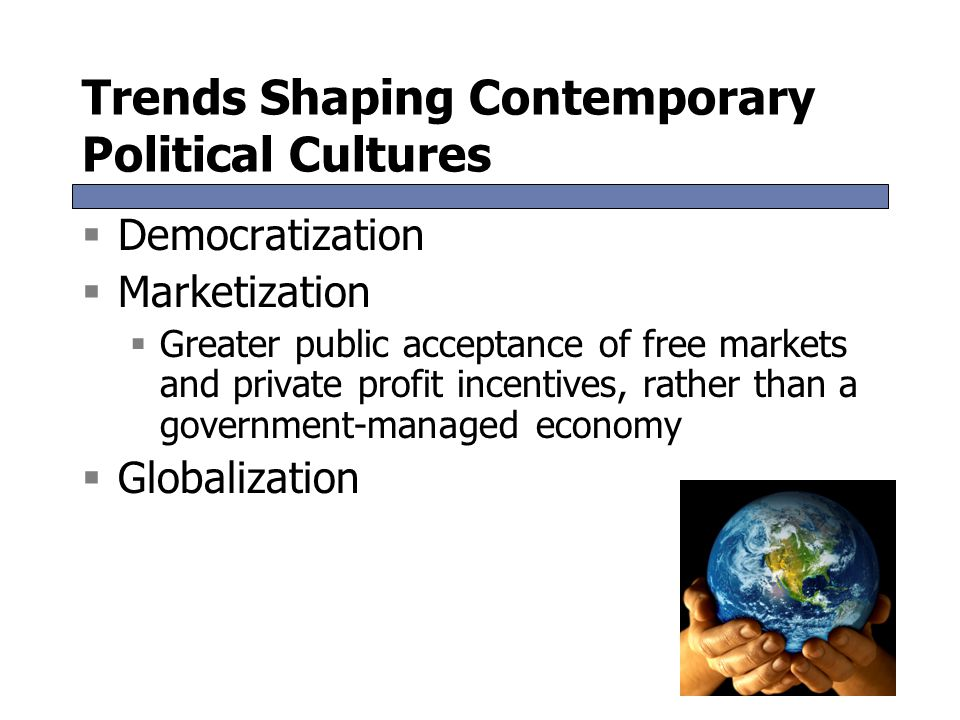Trends Shaping Contemporary Political Cultures