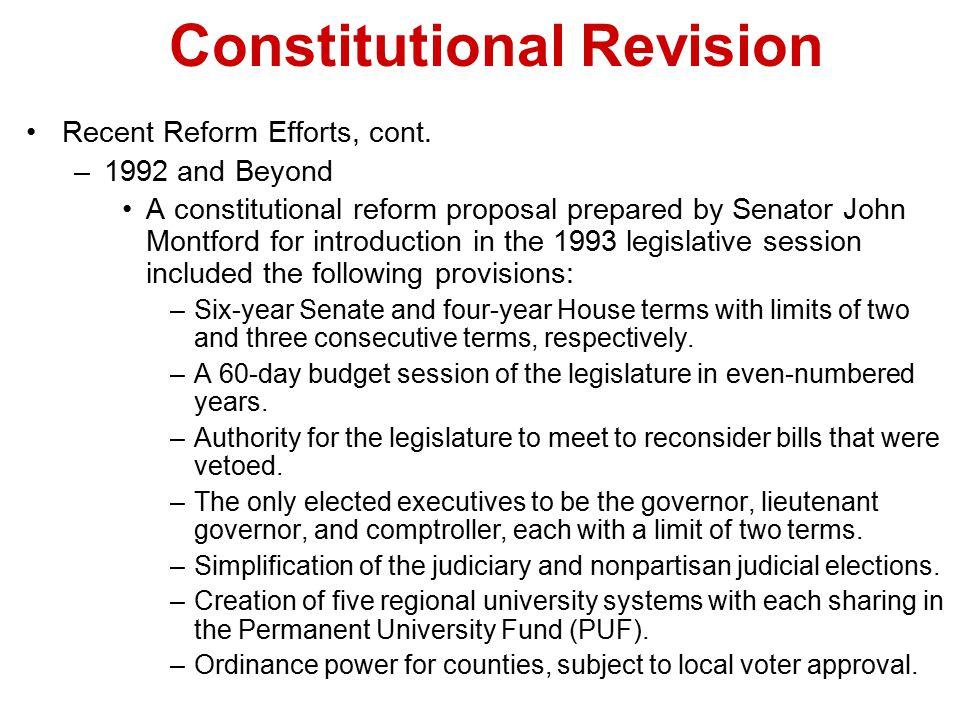 Constitutional Revision